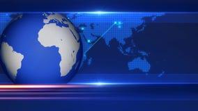 Βρόχος υποβάθρου ζωτικότητας γραφικής παράστασης κινήσεων σημαδιών χρημάτων δολαρίων υποβάθρου ειδήσεων διανυσματική απεικόνιση
