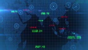 Βρόχος υποβάθρου στοιχείων παγκόσμιων οικονομικός αποθεμάτων επιχειρησιακών εταιρικός στοιχείων ελεύθερη απεικόνιση δικαιώματος