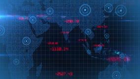 Βρόχος υποβάθρου στοιχείων παγκόσμιων οικονομικός αποθεμάτων επιχειρησιακών εταιρικός στοιχείων διανυσματική απεικόνιση