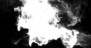 Βρόχος υποβάθρου VJ κινήσεων - μόρια καπνού Noire 4k + μεταλλίνη διανυσματική απεικόνιση
