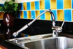 βρύση κουζινών Στοκ εικόνα με δικαίωμα ελεύθερης χρήσης