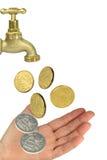 βρύση χρημάτων χεριών Στοκ φωτογραφία με δικαίωμα ελεύθερης χρήσης