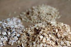 Βρώμες και καφετί ρύζι Στοκ Φωτογραφία