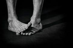Βρώμικα γυμνά πόδια Στοκ φωτογραφία με δικαίωμα ελεύθερης χρήσης