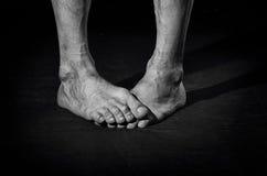 Βρώμικα γυμνά πόδια Στοκ Φωτογραφία