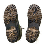 βρώμικα πέλματα παπουτσιών Στοκ φωτογραφίες με δικαίωμα ελεύθερης χρήσης
