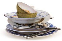 βρώμικα πιάτα Στοκ Εικόνα