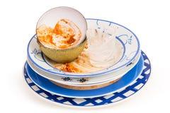 βρώμικα πιάτα Στοκ Εικόνες