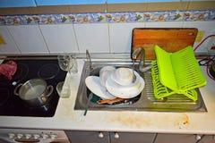 βρώμικα πιάτα Στοκ Φωτογραφία