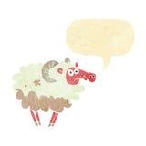 βρώμικα πρόβατα κινούμενων σχεδίων με τη λεκτική φυσαλίδα Στοκ Εικόνες