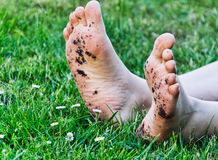 Βρώμικα πόδια Στοκ Φωτογραφίες