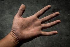 βρώμικα χέρια Χέρια εργαζομένων Στοκ Φωτογραφίες