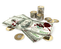 βρώμικα χρήματα Στοκ εικόνα με δικαίωμα ελεύθερης χρήσης
