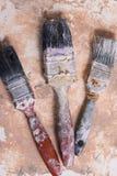 Βρώμικες βούρτσες χρωμάτων Στοκ φωτογραφία με δικαίωμα ελεύθερης χρήσης