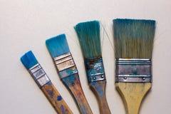 Βρώμικες λειτουργώντας βούρτσες τέχνης Στοκ Εικόνες