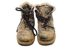 Βρώμικες παλαιές μπότες Στοκ Φωτογραφίες