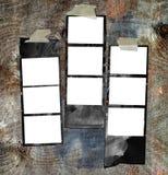 βρώμικες τυπωμένες λουρίδες ταινιών Στοκ Φωτογραφία