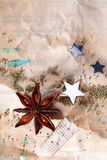 Βρώμικη ανασκόπηση Χριστουγέννων Στοκ Φωτογραφία