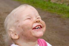 βρώμικη αντιμέτωπη ευτυχία Στοκ εικόνες με δικαίωμα ελεύθερης χρήσης