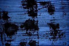 Βρώμικη εξαιρετικά μπλε ξύλινη σύσταση Grunge, τέμνουσα επιφάνεια πινάκων για τα στοιχεία σχεδίου Στοκ Εικόνες