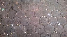 Βρώμικη οδός με την άκρη τσιγάρων στοκ φωτογραφία