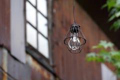 Βρώμικη παλαιά λάμπα φωτός Στοκ Εικόνα
