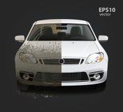 Βρώμικη υπηρεσία πλυσίματος αυτοκινήτων στοκ εικόνα με δικαίωμα ελεύθερης χρήσης