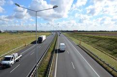 βρώμικη όψη εθνικών οδών γυαλιού αυτοκινήτων Στοκ Εικόνα