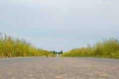 Βρώμικος δρόμος με το στρωμένο δρόμο στοκ φωτογραφία με δικαίωμα ελεύθερης χρήσης