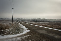 βρώμικος δρόμος Στοκ Φωτογραφίες