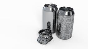 Βρώμικος νέος ποτών που συντρίβεται του υποβάθρου, τρισδιάστατος δίνει στοκ φωτογραφία