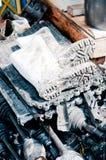 βρώμικος πολύ άσπρος μποτώ&n Στοκ φωτογραφίες με δικαίωμα ελεύθερης χρήσης