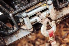 Βρώμικος προφυλακτήρας βαρούλκων γάντζων atv Στοκ εικόνα με δικαίωμα ελεύθερης χρήσης