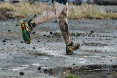 Βρώμικος δρομέας ατόμων ποδιών Στοκ Φωτογραφία