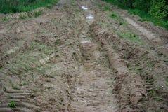 βρώμικος δρόμος αγροτικό& Στοκ εικόνα με δικαίωμα ελεύθερης χρήσης