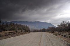 Βρώμικος δρόμος και θύελλα στο SAN Martin de Los Άνδεις Στοκ Εικόνα