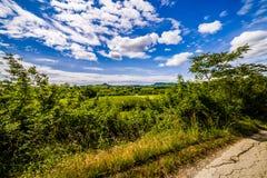 Βρώμικος δρόμος οι λόφοι της Τοσκάνης και Romagna Apennines Στοκ Εικόνες