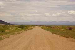 Βρώμικος δρόμος της Αριζόνα Στοκ Εικόνες