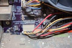 Βρώμικος σκονισμένος υπολογιστής Στοκ Φωτογραφία