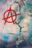 βρώμικος τοίχος συμβόλω&nu Στοκ εικόνα με δικαίωμα ελεύθερης χρήσης