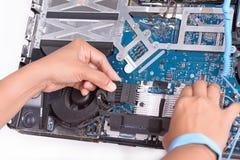 Βρώμικος υπολογιστής αποτυπώσεων στοκ εικόνες