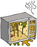 βρώμικος φούρνος μικροκ&up διανυσματική απεικόνιση