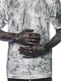 βρώμικο άτομο Στοκ εικόνες με δικαίωμα ελεύθερης χρήσης