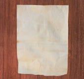 Βρώμικο έγγραφο για το ξύλο Στοκ εικόνες με δικαίωμα ελεύθερης χρήσης