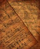 βρώμικο έγγραφο μουσικής Στοκ Εικόνες