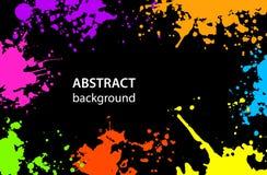 Βρώμικο αφηρημένο υπόβαθρο λεκέδων Splatter χρωμάτων Στοκ φωτογραφία με δικαίωμα ελεύθερης χρήσης