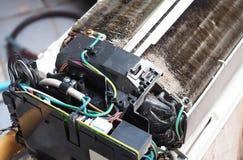 Βρώμικο κλιματιστικό μηχάνημα Στοκ φωτογραφία με δικαίωμα ελεύθερης χρήσης
