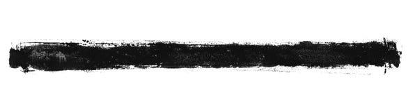 Βρώμικο λωρίδα πινέλων με το μαύρο χρώμα ελεύθερη απεικόνιση δικαιώματος