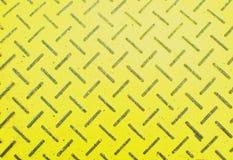 βρώμικο μέταλλο ανασκόπησης κίτρινο Στοκ Φωτογραφίες