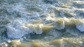 Βρώμικο νερό στην πόλη απόθεμα βίντεο